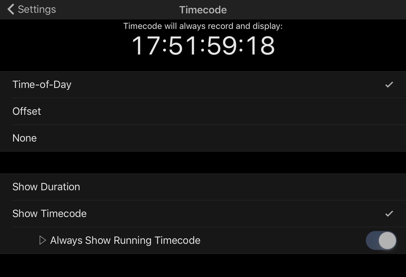 Timecode – MAVIS